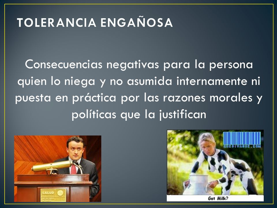 TOLERANCIA ENGAÑOSA