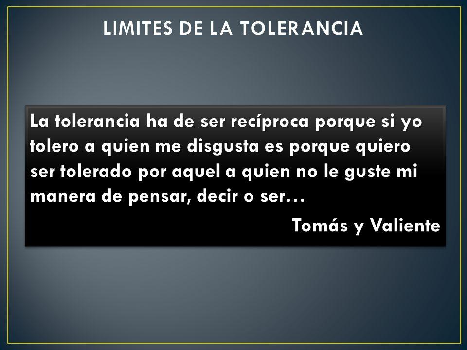 LIMITES DE LA TOLERANCIA