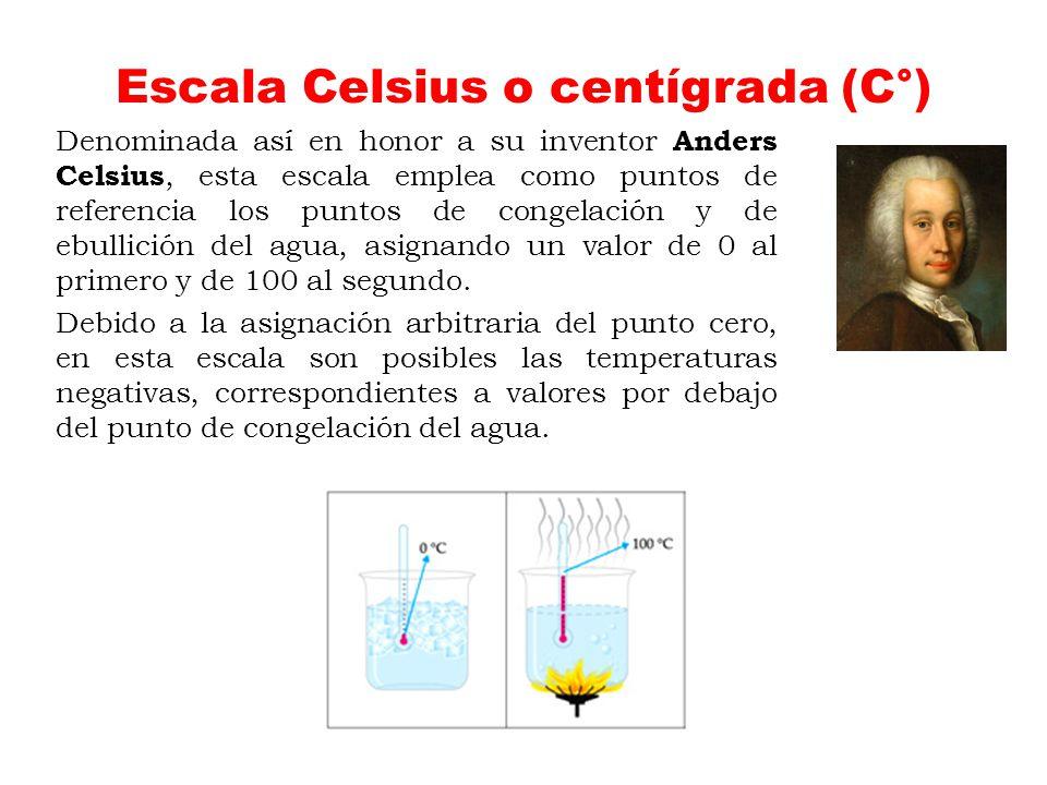 Escala Celsius o centígrada (C°)