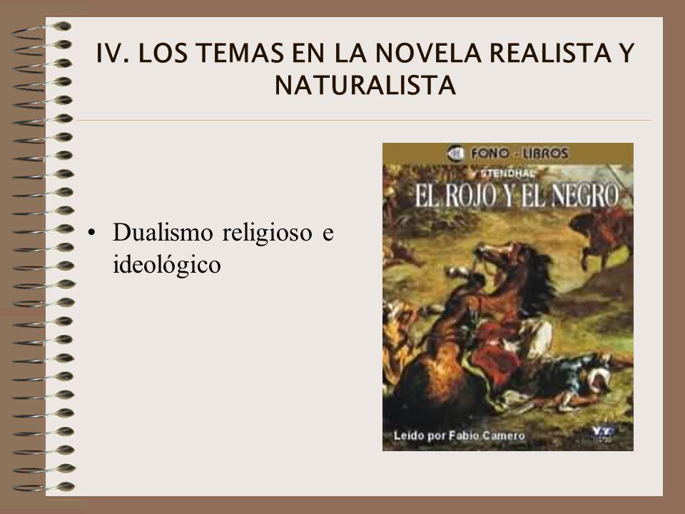 IV. LOS TEMAS EN LA NOVELA REALISTA Y NATURALISTA