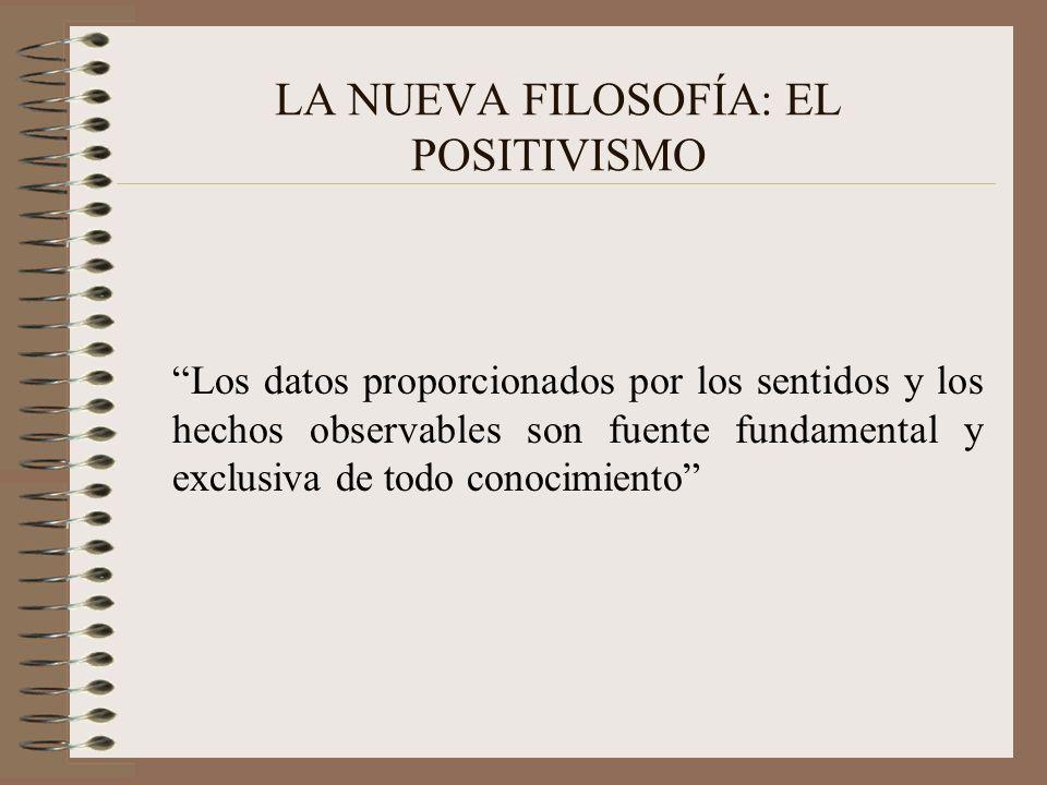 LA NUEVA FILOSOFÍA: EL POSITIVISMO