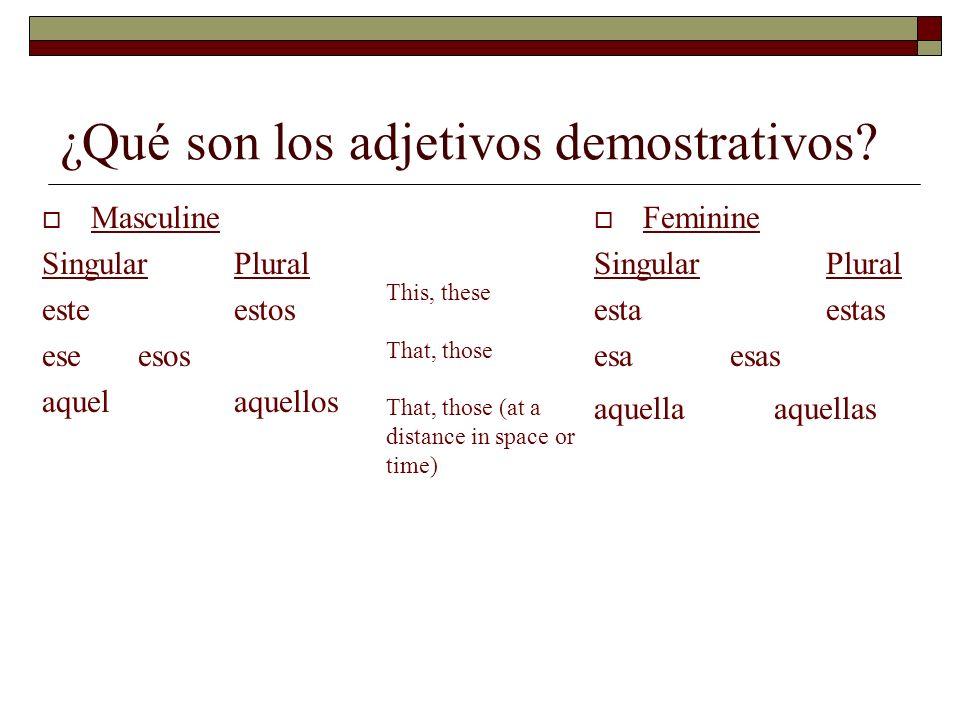 ¿Qué son los adjetivos demostrativos