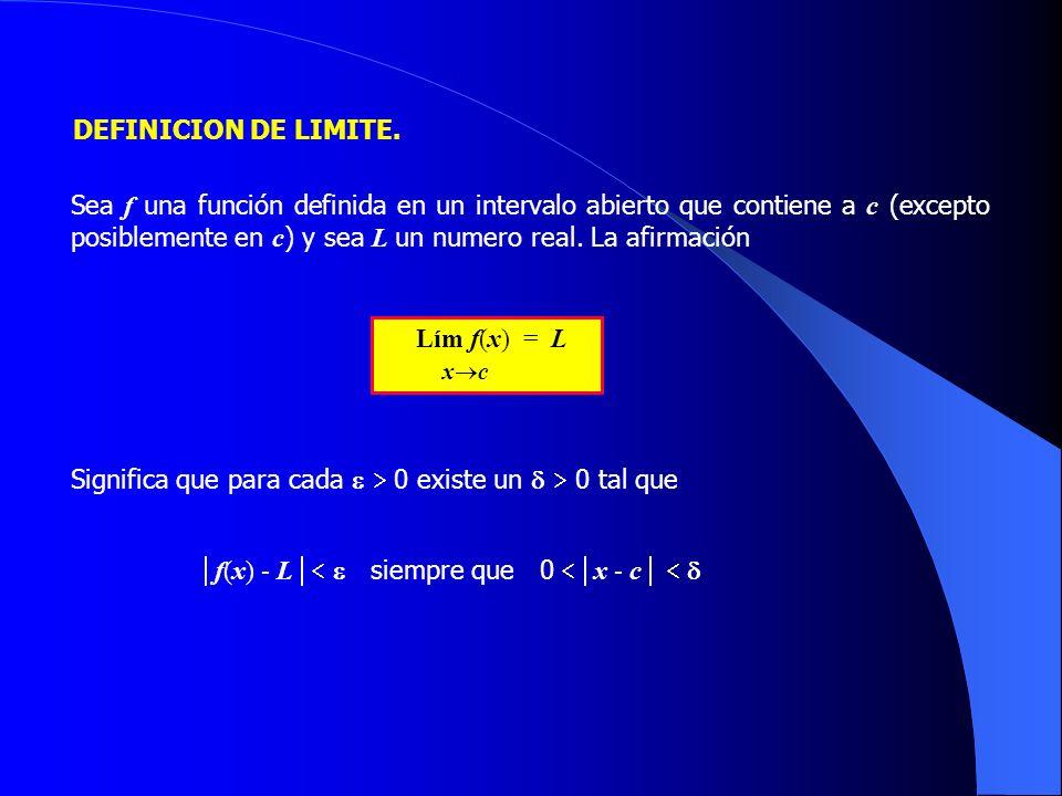 DEFINICION DE LIMITE.