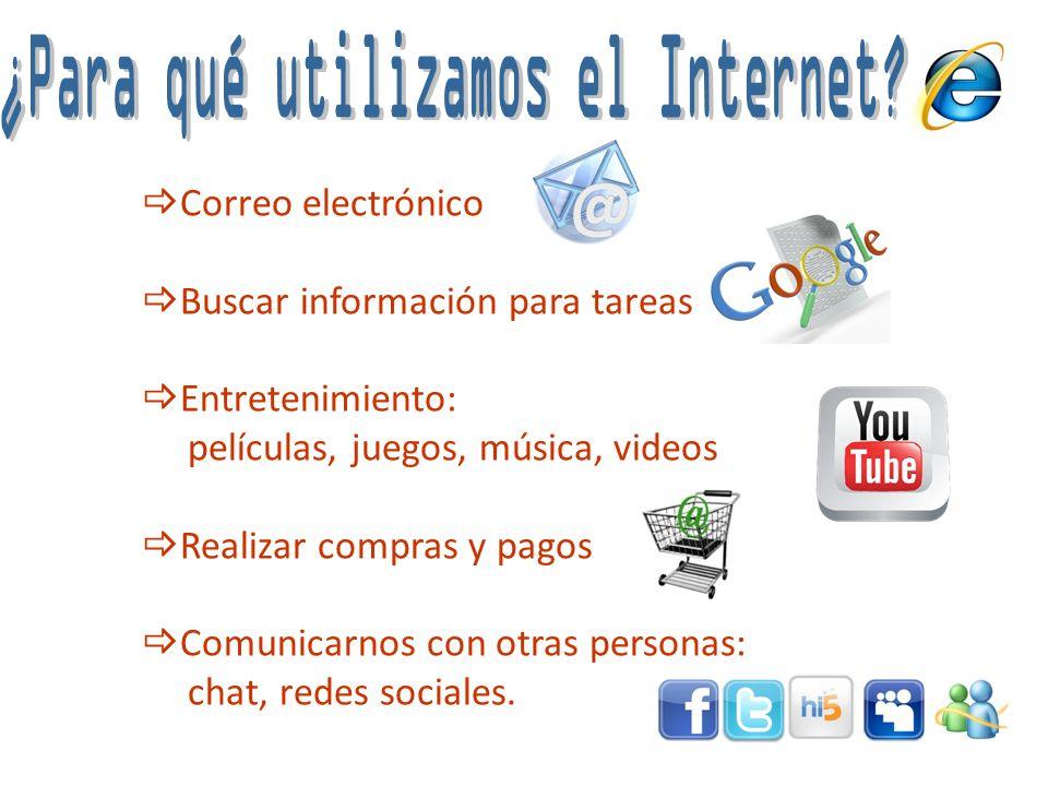 ¿Para qué utilizamos el Internet