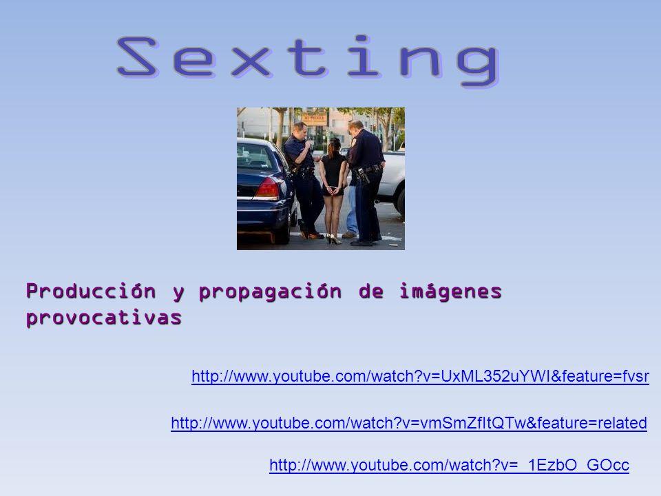 Sexting Producción y propagación de imágenes provocativas