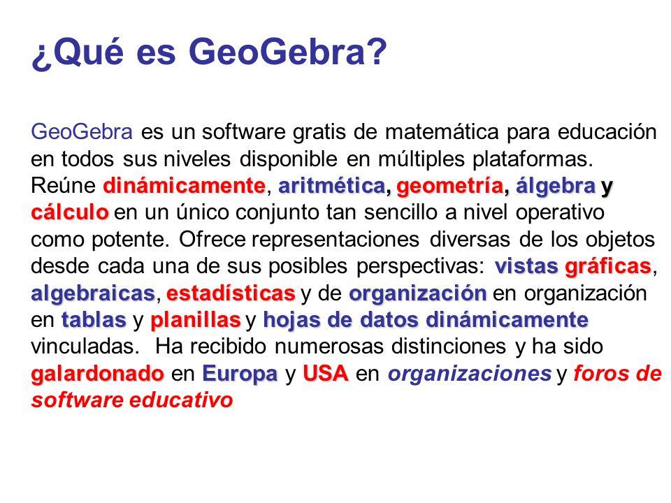 ¿Qué es GeoGebra