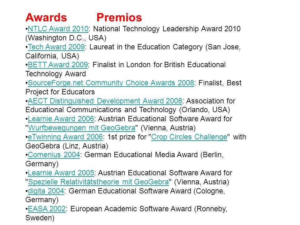 Awards Premios NTLC Award 2010: National Technology Leadership Award 2010 (Washington D.C., USA)