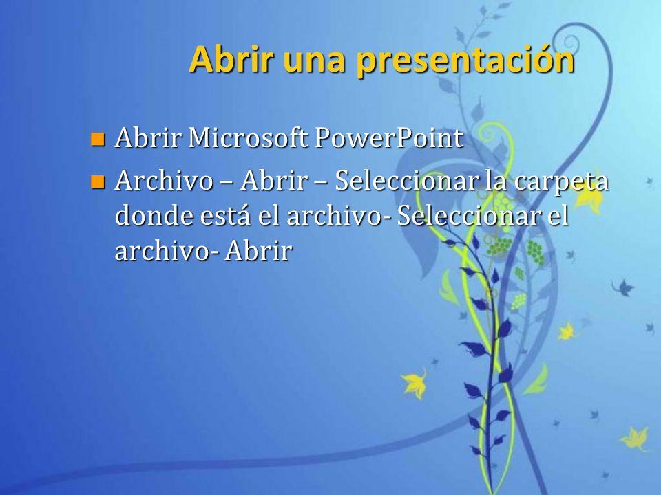 Abrir una presentación