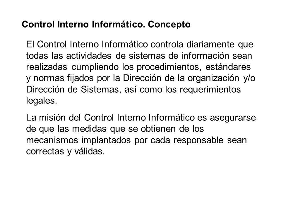 Control Interno Informático. Concepto