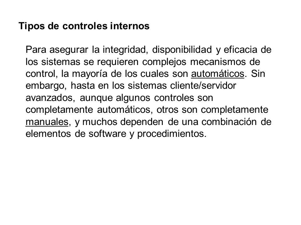 Tipos de controles internos
