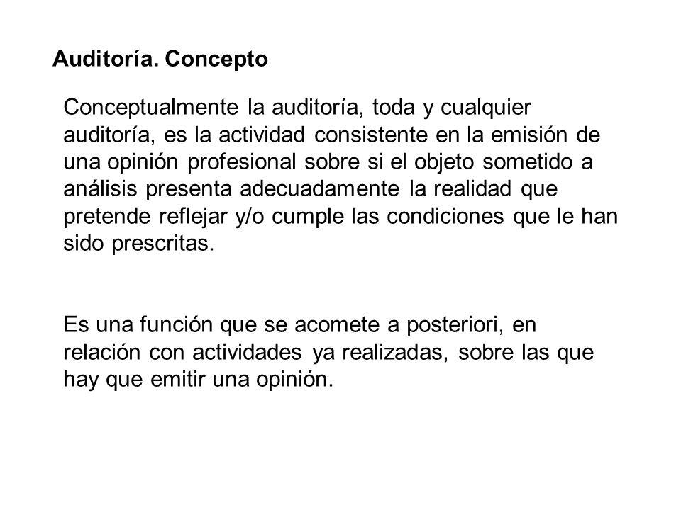 Auditoría. Concepto