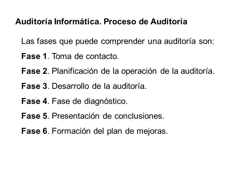 Auditoría Informática. Proceso de Auditoría