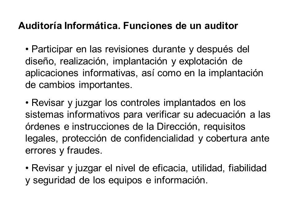 Auditoría Informática. Funciones de un auditor