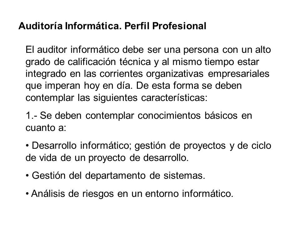 Auditoría Informática. Perfil Profesional