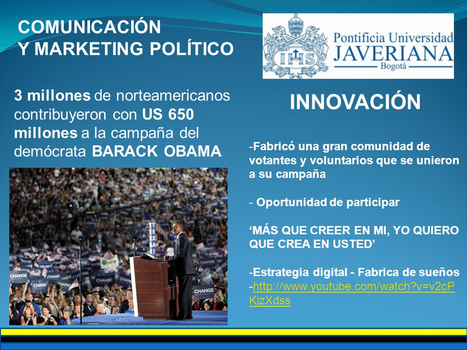 INNOVACIÓN COMUNICACIÓN Y MARKETING POLÍTICO