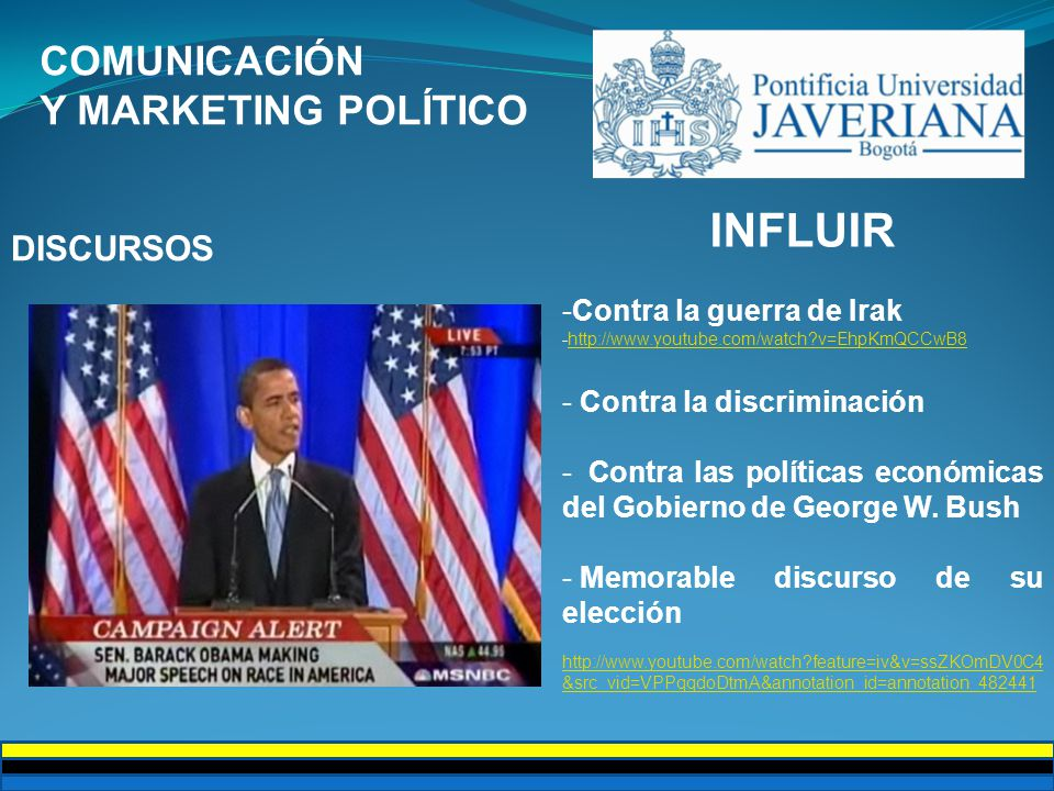 INFLUIR COMUNICACIÓN Y MARKETING POLÍTICO DISCURSOS
