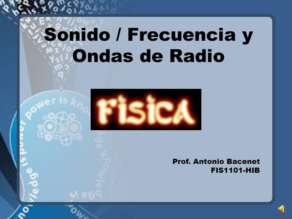 Sonido / Frecuencia y Ondas de Radio