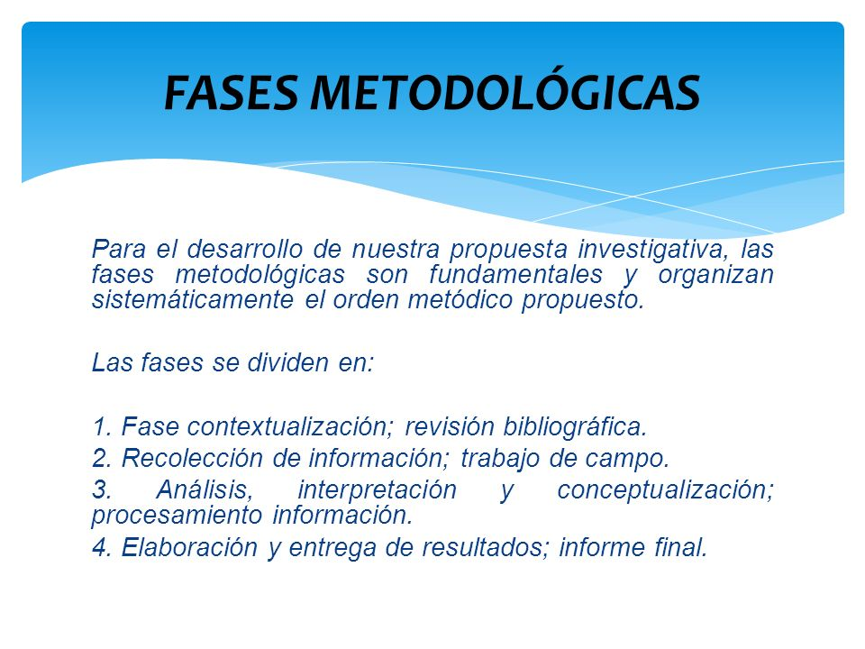FASES METODOLÓGICAS
