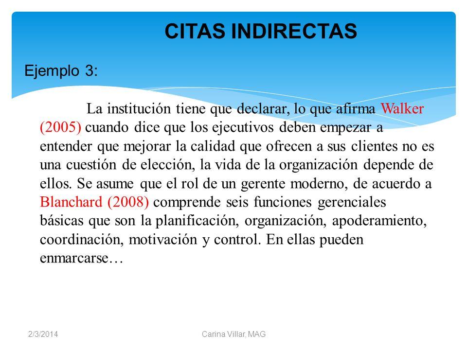 CITAS INDIRECTAS Ejemplo 3: