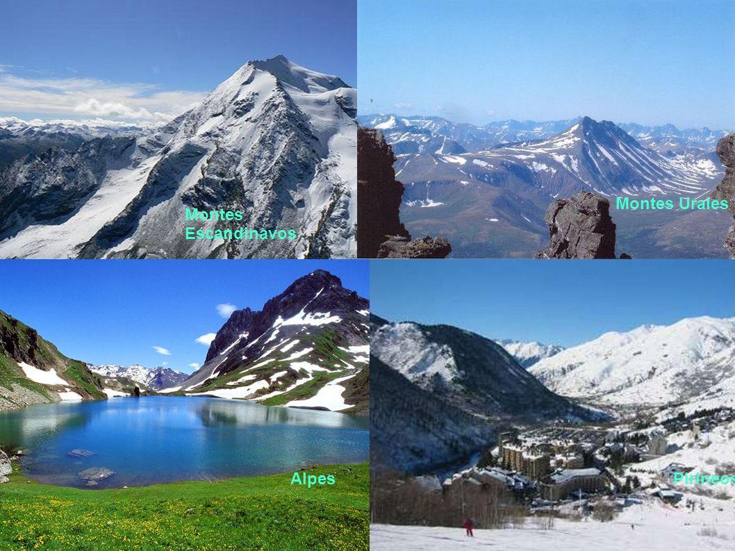 Montes Urales Montes Escandinavos Alpes Pirineos