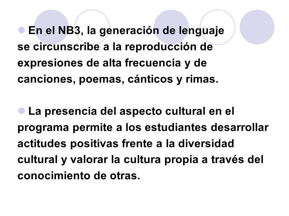 En el NB3, la generación de lenguaje