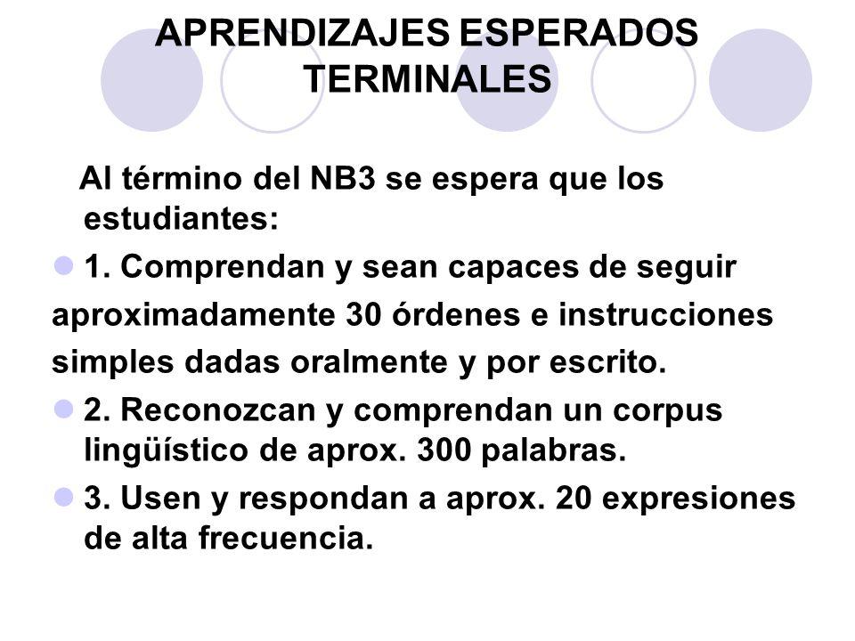 APRENDIZAJES ESPERADOS TERMINALES