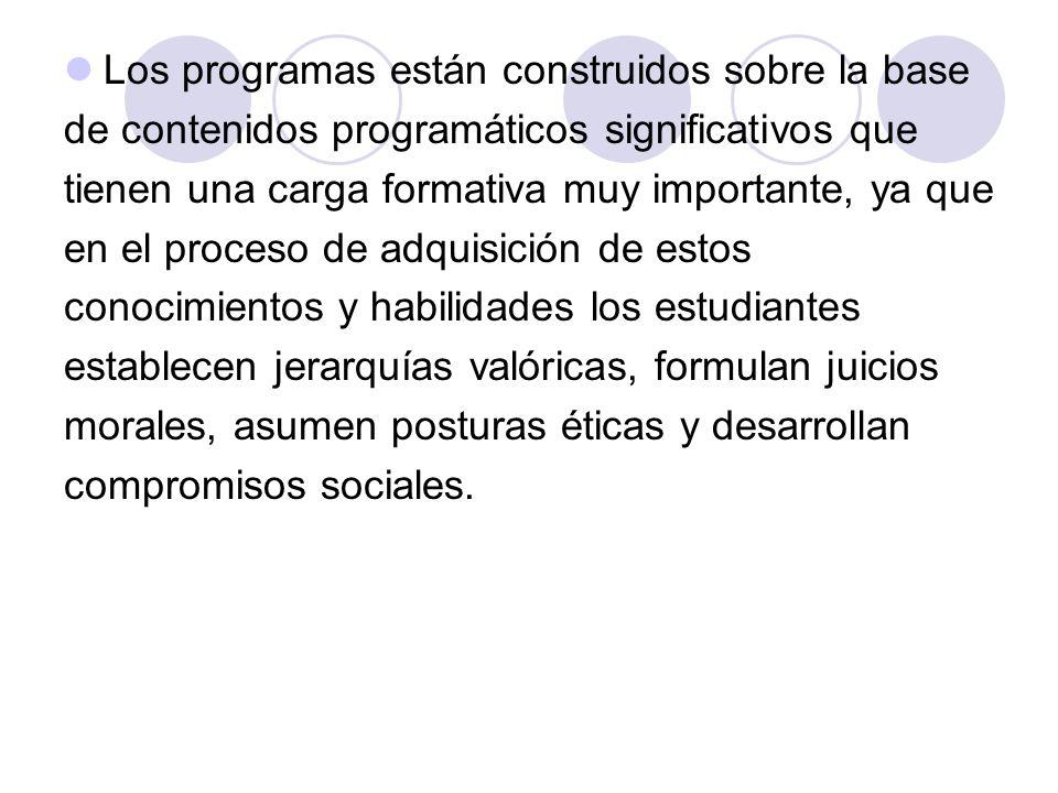 Los programas están construidos sobre la base