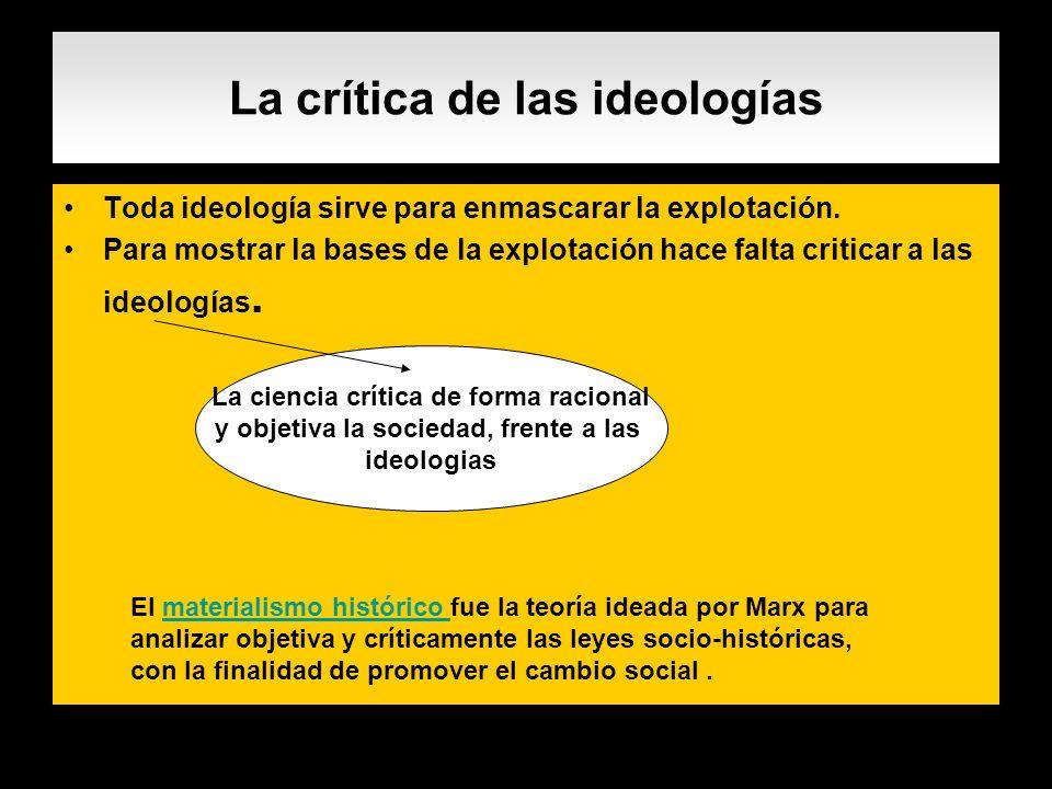 La crítica de las ideologías