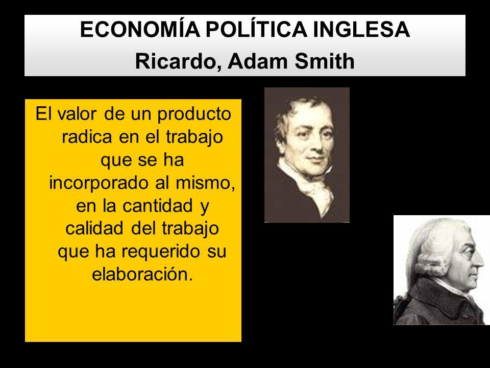 ECONOMÍA POLÍTICA INGLESA Ricardo, Adam Smith