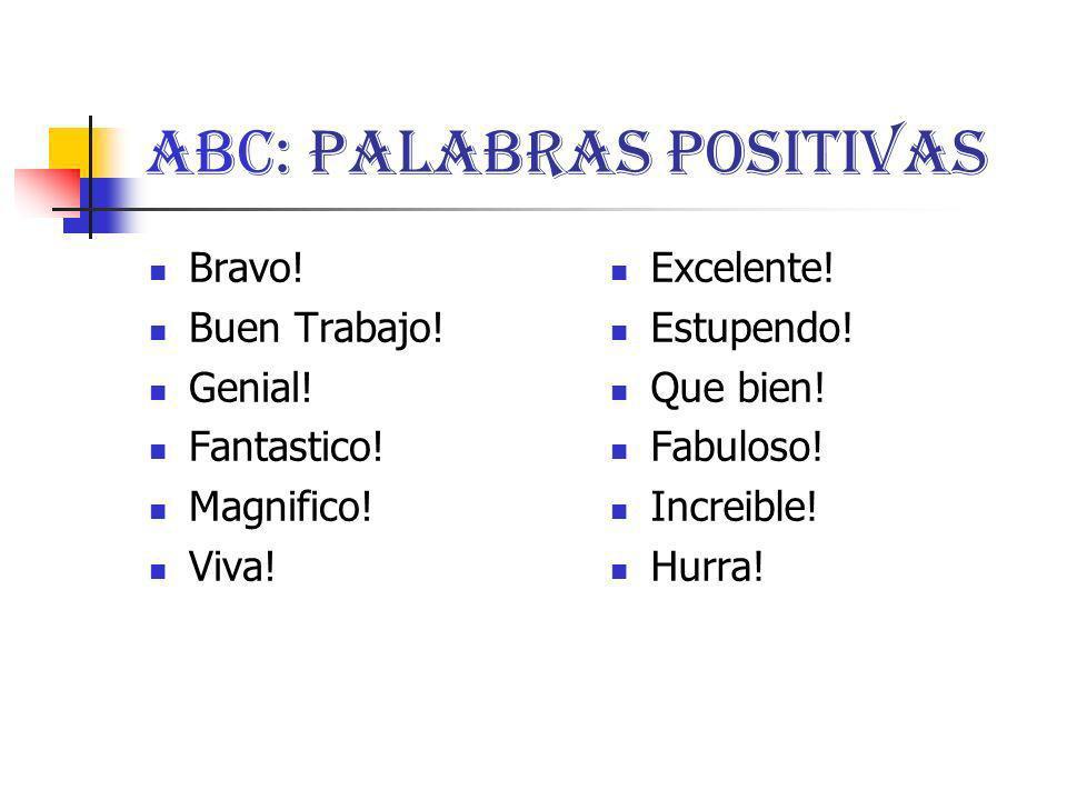 ABC: Palabras Positivas
