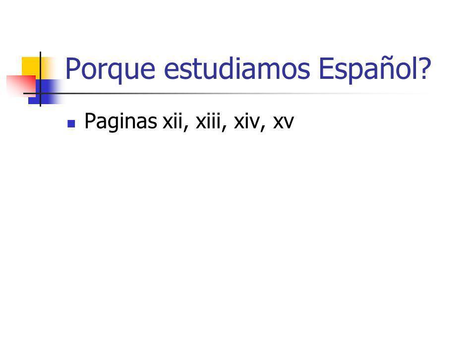 Porque estudiamos Español