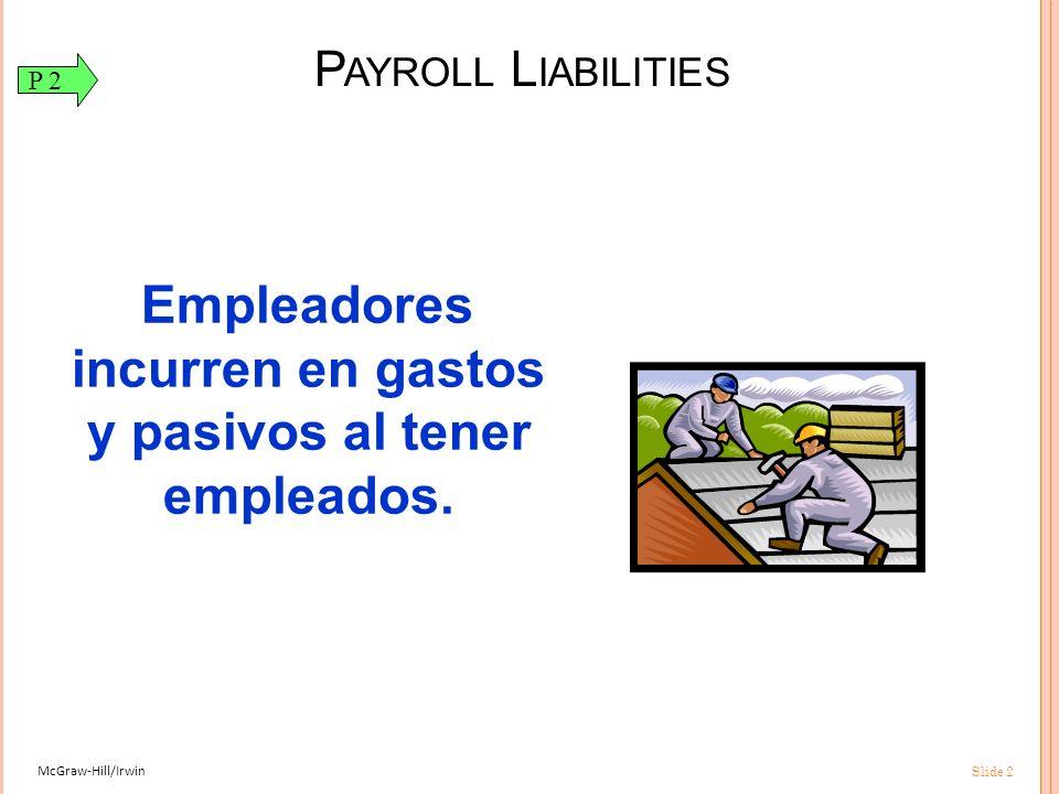 Empleadores incurren en gastos y pasivos al tener empleados.