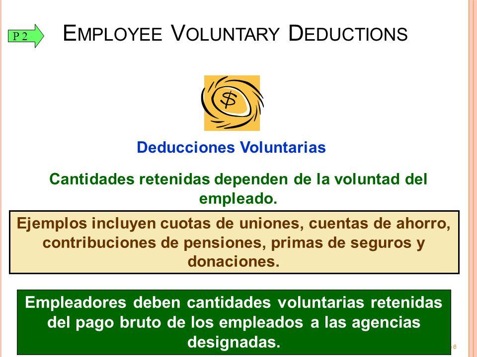 Employee Voluntary Deductions