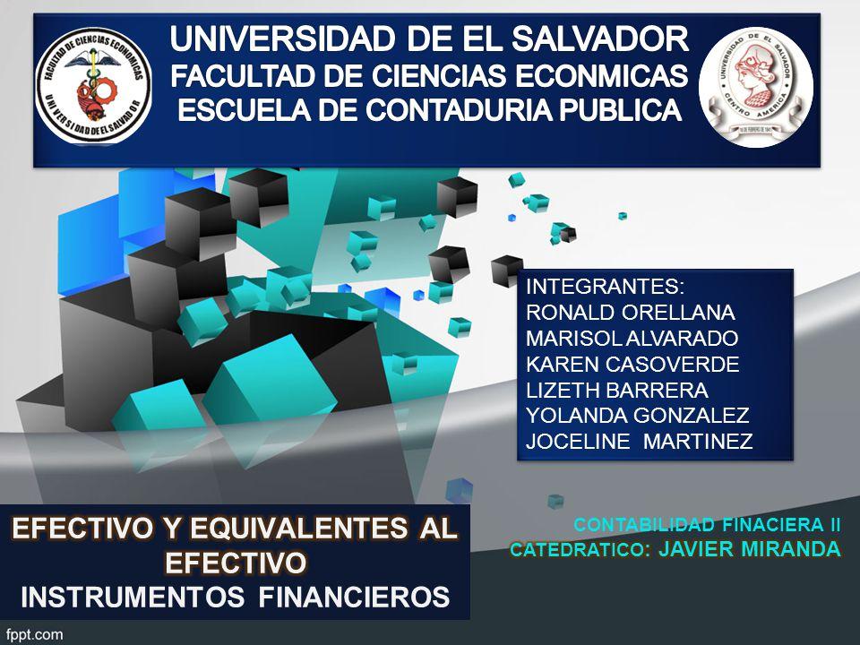 EFECTIVO Y EQUIVALENTES AL EFECTIVO INSTRUMENTOS FINANCIEROS