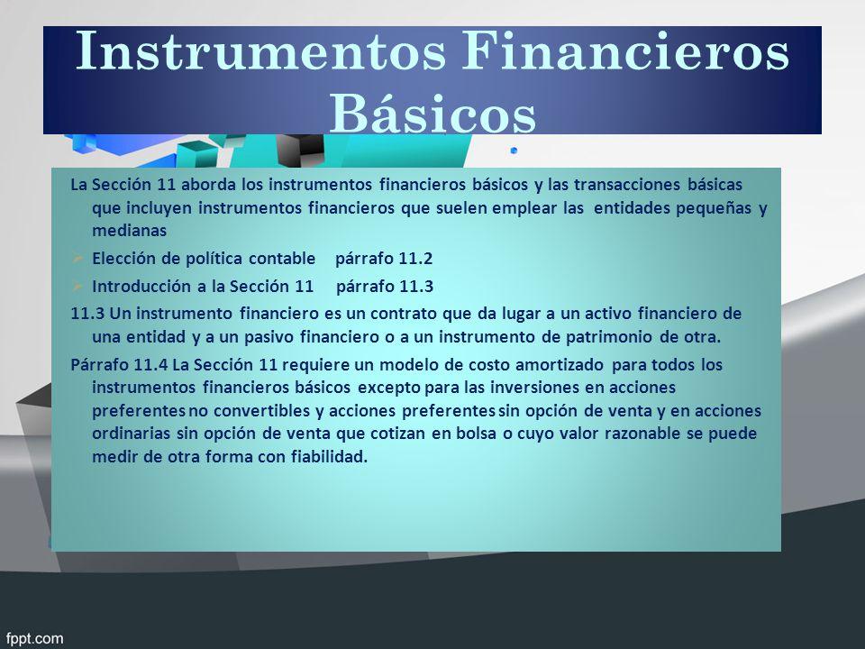 Instrumentos Financieros Básicos