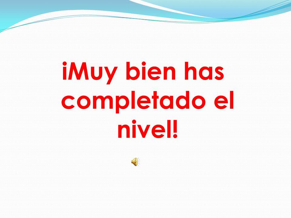 iMuy bien has completado el nivel!