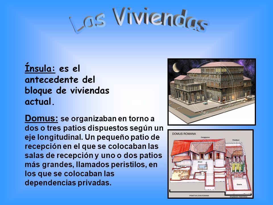 Las Viviendas Ínsula: es el antecedente del bloque de viviendas actual.
