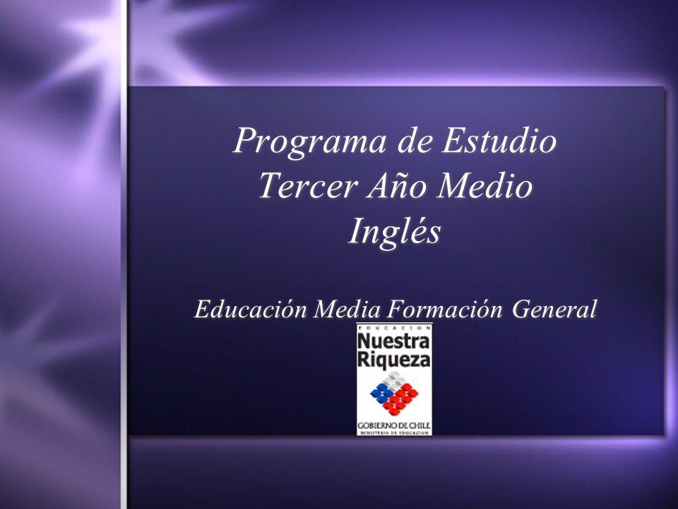 Programa de Estudio Tercer Año Medio Inglés