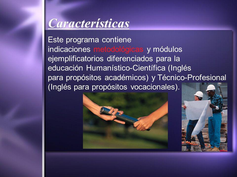 Características Este programa contiene