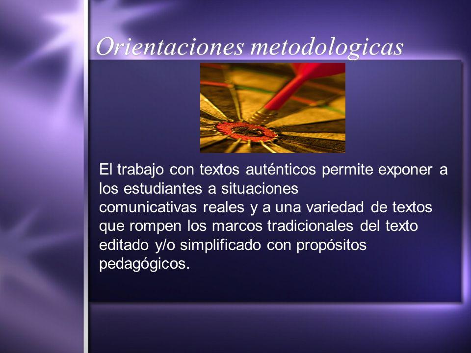 Orientaciones metodologicas