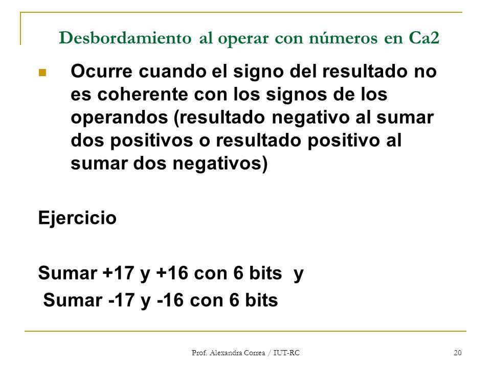 Desbordamiento al operar con números en Ca2