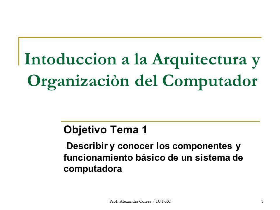 Intoduccion a la Arquitectura y Organizaciòn del Computador