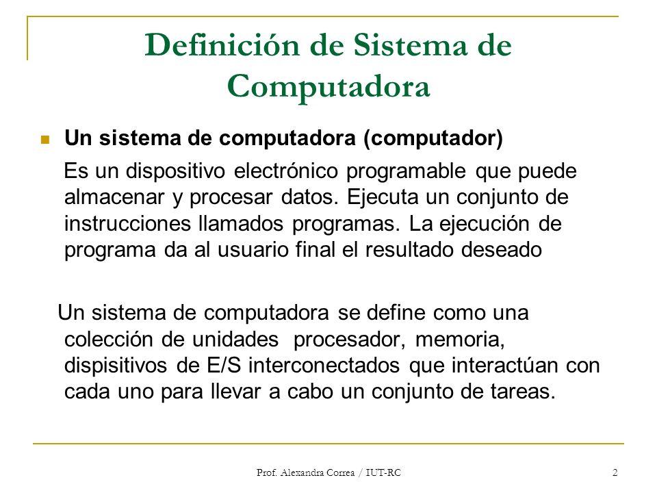 Definición de Sistema de Computadora
