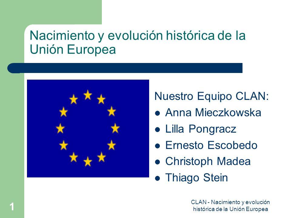 Nacimiento y evolución histórica de la Unión Europea