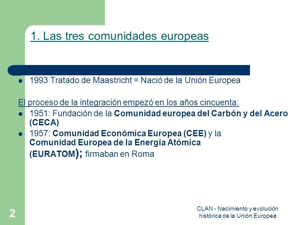 1. Las tres comunidades europeas