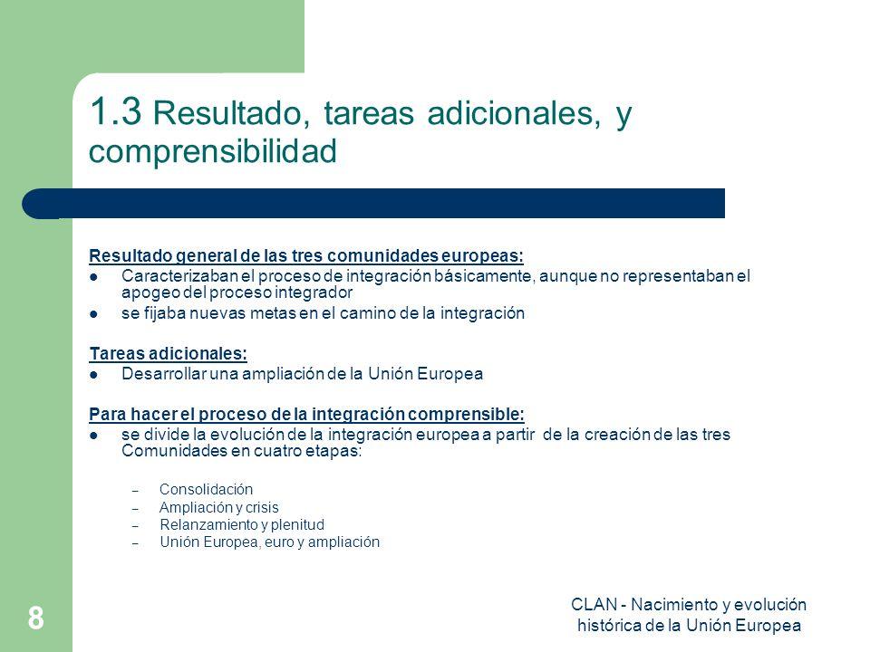 1.3 Resultado, tareas adicionales, y comprensibilidad
