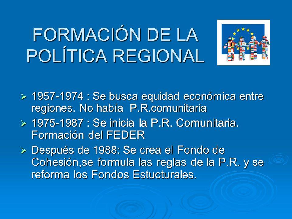 FORMACIÓN DE LA POLÍTICA REGIONAL