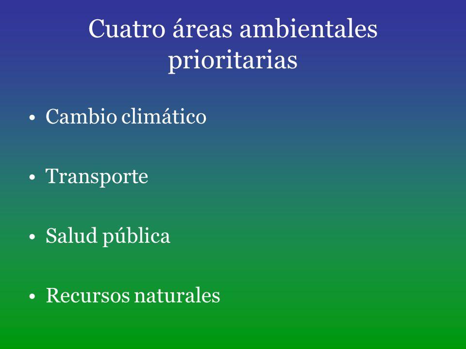 Cuatro áreas ambientales prioritarias