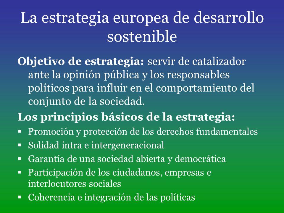 La estrategia europea de desarrollo sostenible