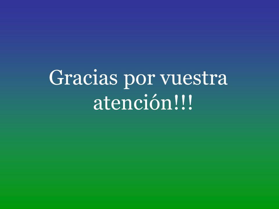 Gracias por vuestra atención!!!